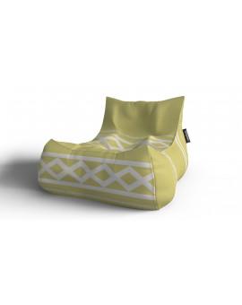 Sedací vak Lounge XXL Žltá svetlá | Wegett