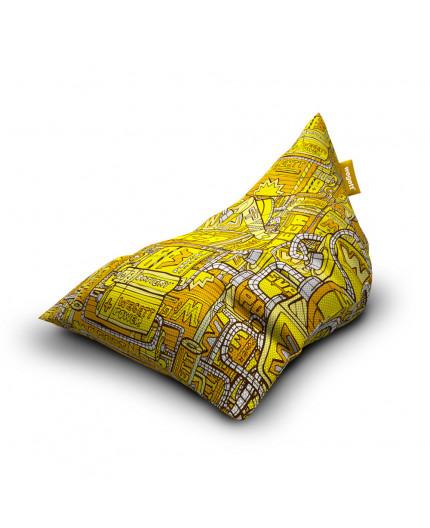Sedací vak Triangle Energy Yellow | Wegett