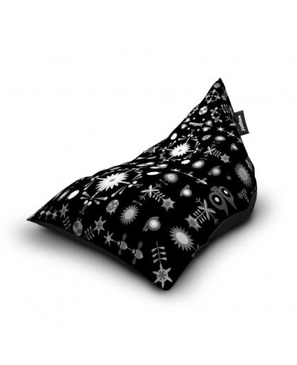 Sedací vak Triangle Garden Black | Wegett