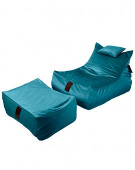 Sitzsäcke SET Lounge XXL Luxury Blue | Wegett