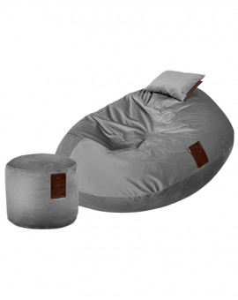 Sedací vak SET Cocoon XXL Luxury Grey | Wegett