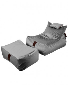 Sedací vak SET Lounge XXL Luxury Grey | Wegett