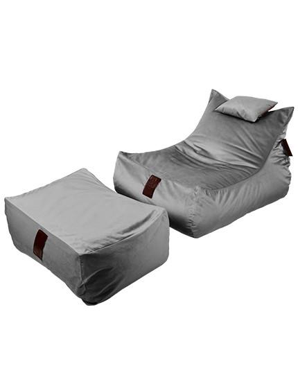 Sedací vak SET Lounge XXL Luxury Grey | Wegett