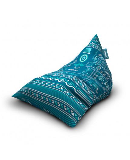 Sedací vak Triangle Urban Turquoise | Wegett