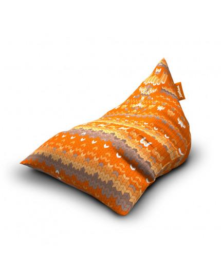 Sedací vak Triangle Sweater Orange | Wegett