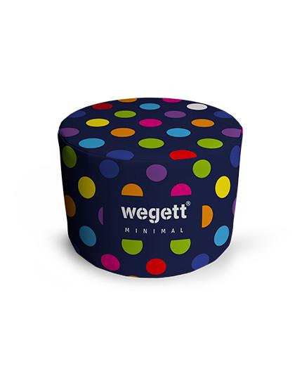 Sedací vak Taburet Minimal Bubble Blue   Wegett