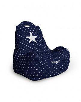 Sedací vak Classic Minimal Star Blue | Wegett
