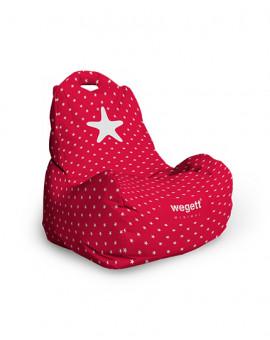 Sedací vak Classic Minimal Star Red   Wegett