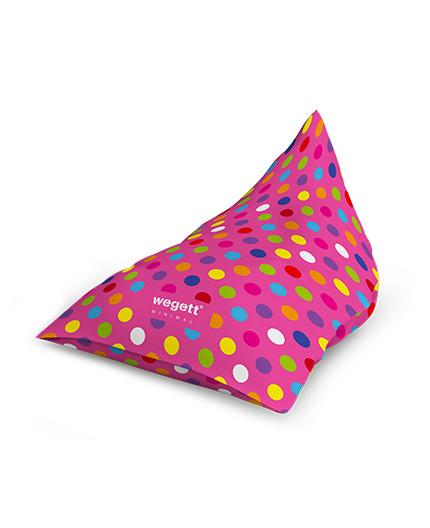 Sedací vak Triangle Minimal Bubble Pink   Wegett