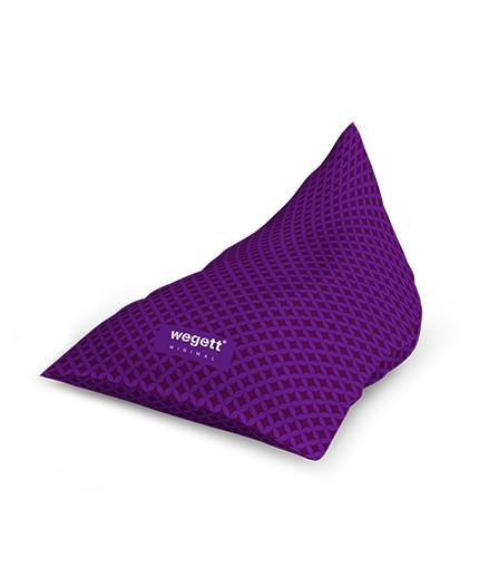 Sedací vak Triangle Minimal Home Purple | Wegett