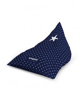 Sedací vak Triangle Minimal Star Blue | Wegett