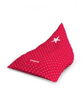 Sedací vak Triangle Minimal Star Red | Wegett