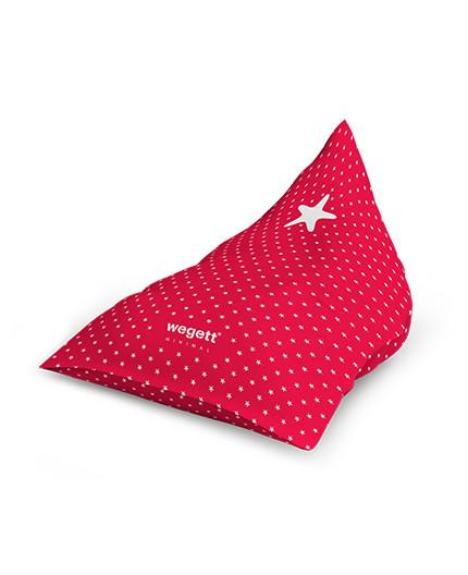 Sedací vak Triangle Minimal Star Red   Wegett