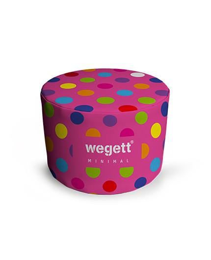 Sedací vak Taburet Minimal Bubble Pink   Wegett