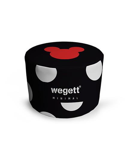 Sedací vak Taburet Minimal MM Black | Wegett