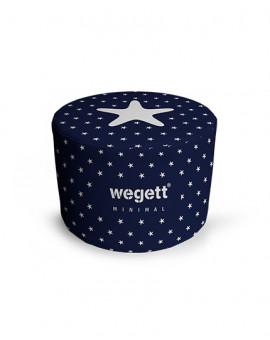 Sedací vak Taburet Minimal Star Blue | Wegett