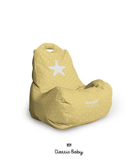 Sedací vak BABY Classic Star Yellow | Wegett