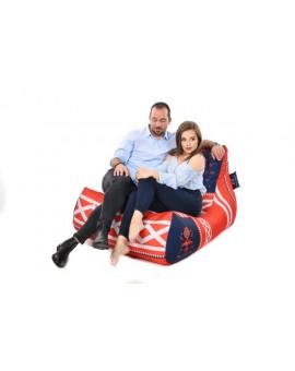 Sitzsäcke Lounge XXL Šedomodrá | Wegett