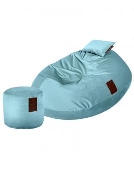 Sedací vak SET Cocoon XXL Luxury Light Blue   Wegett