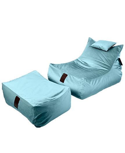 Sedací vak SET Lounge XXL Luxury Light Blue | Wegett