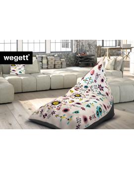 Sedací vak Triangle Garden White | Wegett