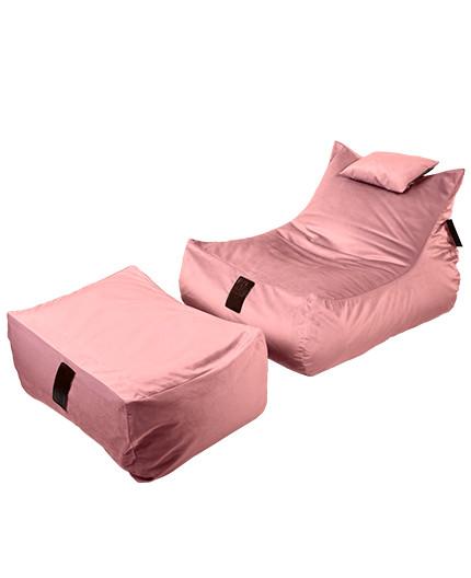Sedací vak SET Lounge XXL Luxury Old Pink   Wegett