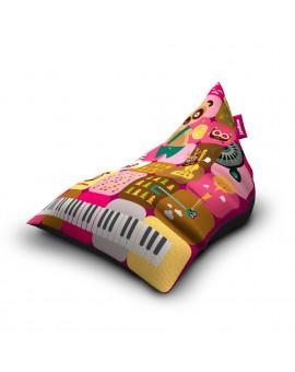 Sedací vak Triangle Band Pink | Wegett