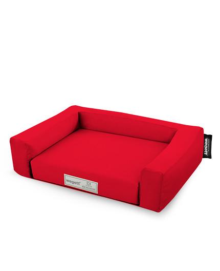 Hundebett Einfarbig Rot