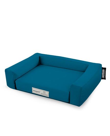 Psí pelíšek Jednobarevný Modrá
