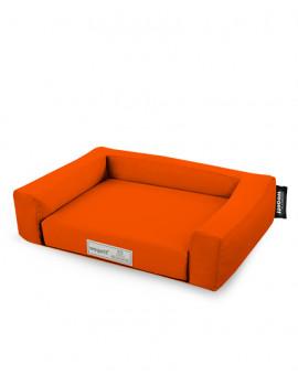 Psí pelíšek Jednobarevný Oranžová