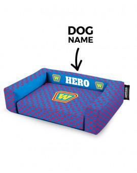 Psí pelíšek potisk Hero Blue