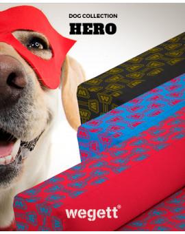 Psí pelíšek potisk Hero Red