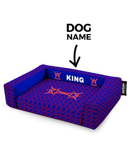 Hundebett King Blue