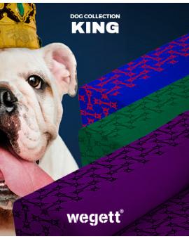 Psí pelíšek potisk King Blue