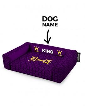 Psí pelíšek potisk King Purple