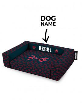 Psí pelíšek potisk Rebel Dark