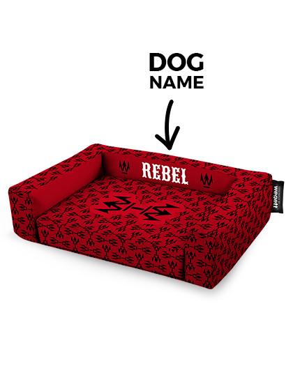 Psí pelíšek potisk Rebel Red