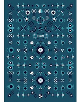 Sedací vak Triangle Garden Blue | Wegett