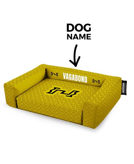Psí pelíšek potisk Vagabond Yellow