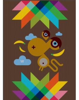 Sedací vak Triangle Monkey | Wegett